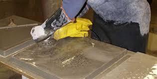 grinding concrete countertops