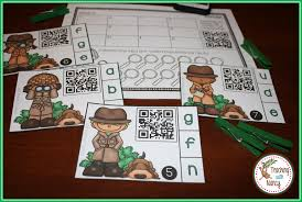 qr detect spanish letter sound detective qr code station teaching with nancy
