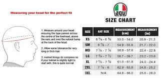 Agv Helmet Size Chart Agv Open Face Fluid Helmet