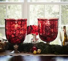 red mercury glass hurricane