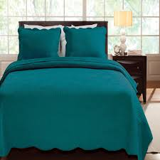 image of nice teal coverlet