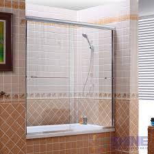 semi frameless sliding bath door