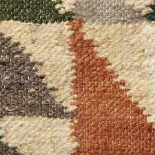 handwoven guatemalan geometric wool rug 2 thumbnail