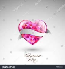 Beautiful Heart Design Illustration Valentines Day Beautiful Heart Design Stock
