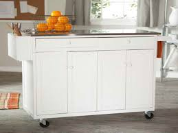 Kitchen Island Table On Wheels Kitchen Wire Fruits Basket And Stainless Steel Countertop Feat