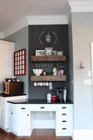desk turned coffee station