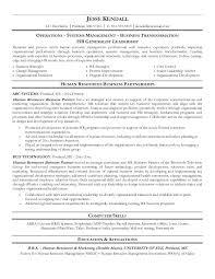 Resume Sample For Hr Hr Business Partner Sample Resume Sample For