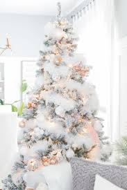 Craftberry Bush | Blush and Copper Christmas tree |  http://www.craftberrybush  Christmas Tree IdeasBeautiful Christmas  DecorationsChristmas ...