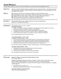 Simple Computer Technician Resume Madiesolution Com