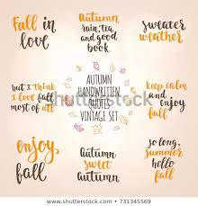 Autumn Quotes Extraordinary Autumn Quotes Vintage Lettering Set Fall Stock Vector Royalty Free