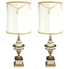 stiffel floor lamp vintage a regency style pair of brass cream colored table lamps