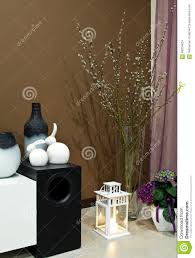 Living Room Corner Living Room Corner Decorated Stock Photo Image 68204624