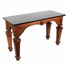 antique hall table. Oak Marble Top Hall Table Antique
