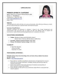 Resume Resume For Job Application Sample Good Mechanic Example