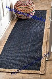 details about braided rug runner braided area rug jute cotton rug runner colourful rag rug