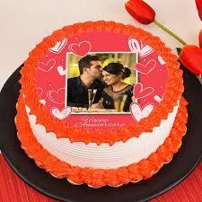Love Frame Photo Cake Flower N Cake Shop