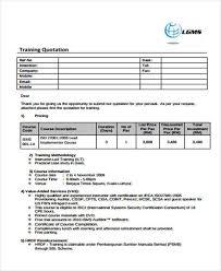 Sample Training Quotation 100 Training Quotation Samples Templates in PDF 1
