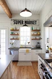Kitchen wall decorating ideas Wall Art Vintage Super Market Wall Sign Homebnc 36 Best Kitchen Wall Decor Ideas And Designs For 2019
