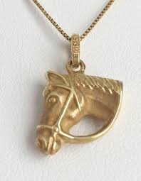 gold horse head pendant