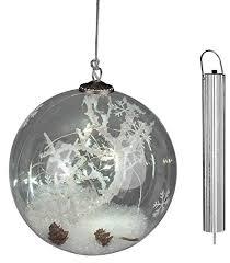 Dekojohnson Weihnachtsbaumkugel Led Glas Kugel Schneedekor