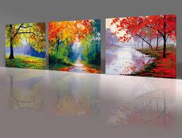 com nuolan art canvas prints 3 panel wall art oil
