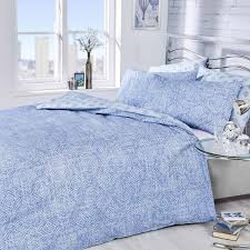 vantona easy living lewin stripe duvet cover set blue