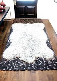 faux fur rugs in white