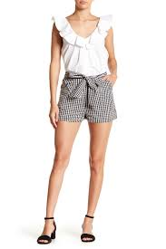Tularosa Size Chart Tularosa Claire Front Tie Gingham Print Shorts Nordstrom Rack