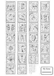 English Coloring Pages Letters And Alphabet Alphabet Worksheets ...
