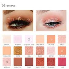 focallure 18 colors pearlized color eyeshadow powder eye shadow palette set cosmetic makeup by dmzing