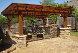 custom built outdoor kitchen area for larger view