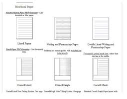 graph paper writing paper music paper and other specialized  writing paper
