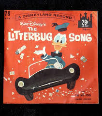 Small Picture Disneyland Record Litterbug Song and Jiminy Cricket Im No Fool