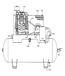compressor parts name. porter cable ln1080h23m type-0 parts schematic compressor name