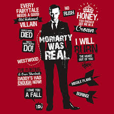 Sherlock Quotes Fascinating Moriarty Quotes Tshirt By Tom Trager