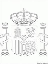 Small Picture Flag Of Spain To ColorOfPrintable Coloring Pages Free Download