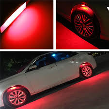 Car Body Lights Us 26 4 18 Off 4pcs Lot Tire Atmosphere Lamps Led Decoration Lights Car Wheel Eyebrow Light Car Body Modified Exterior Ambience Light 12v 24v In Car