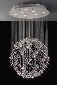 modern cool stylish crystal ball chandelier sparkling floating in regarding sphere with crystals decor 0
