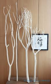 ... Cool White Tree Branches Decorative Wood Decoration Home Design 12 ...