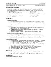Sample Resume For A Public Relations Manager Monster Colbro Co