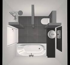 Kleine Badkamer Met Douche Bad Wastafel En Toilet Ontwerp
