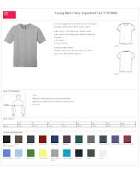 District Very Important Tee Size Chart District Dt6000 Mens Very Important Tee