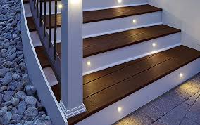 recessed light fixture led round outdoor stair riser trex inc