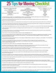 Free Printable Moving Checklist 25 Tips For Moving Successfully And With Sanity Free Printable