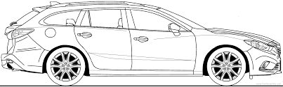 The-Blueprints.com - Blueprints > Cars > Mazda > Mazda 6 Wagon (2013)