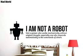 wall arts robot wall art robot wall decal together with funny bedroom decor mad world on target childrens wall art with wall arts robot wall art like this item target robot wall art