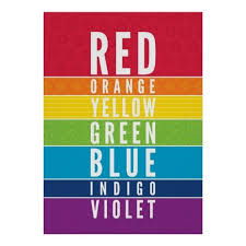 Bold Educational Classroom Rainbow Color Art Chart Zazzle