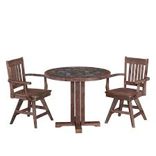 Amazoncom Morocco Dining Set With Round Table And Two Swivel