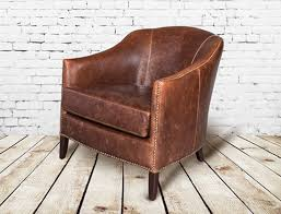 small leather chairs for small spaces. Madison Leather Club Chair AT28201-AS Small Chairs For Spaces