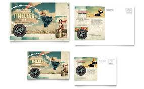 Vintage Postcards Templates Vintage Clothing Postcard Template Word Publisher